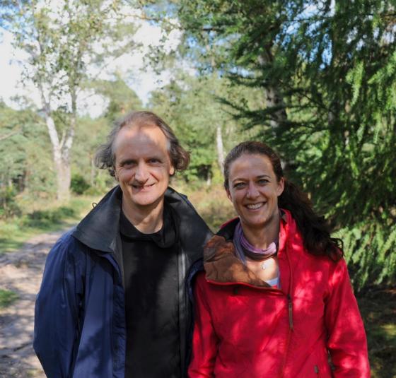 Janine vd Linden en Marcel Meijer, coaches en trainers jaartraject Coachen vanuit je lichtende kern