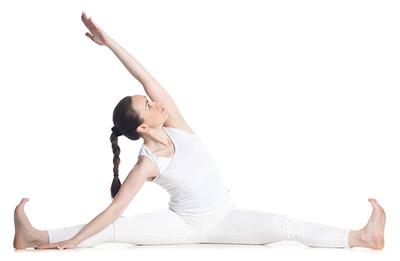 Zijwaartse spreidzit, yogahouding